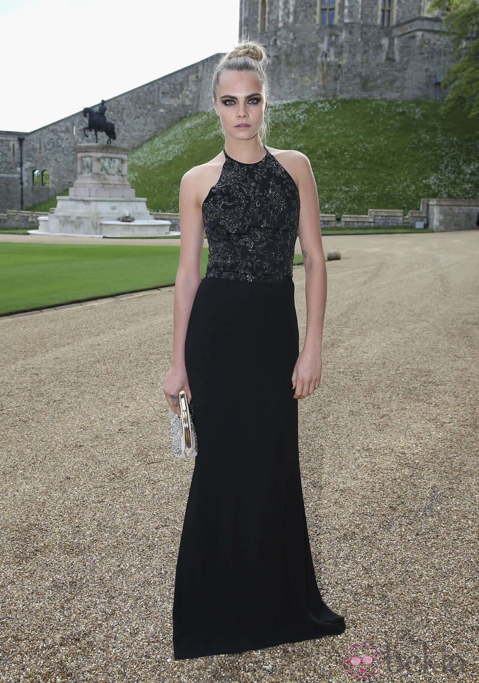 Cara Delevingne en una cena benéfica en el Castillo de Windsor