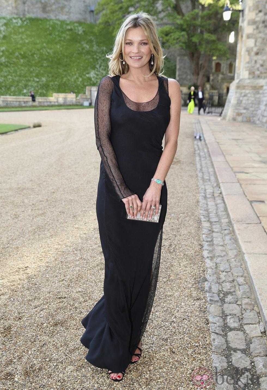 Kate Moss en una cena benéfica en el Castillo de Windsor