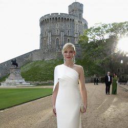 Cate Blanchett en una cena benéfica en el Castillo de Windsor