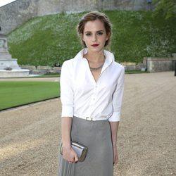 Emma Watson en una cena benéfica en el Castillo de Windsor