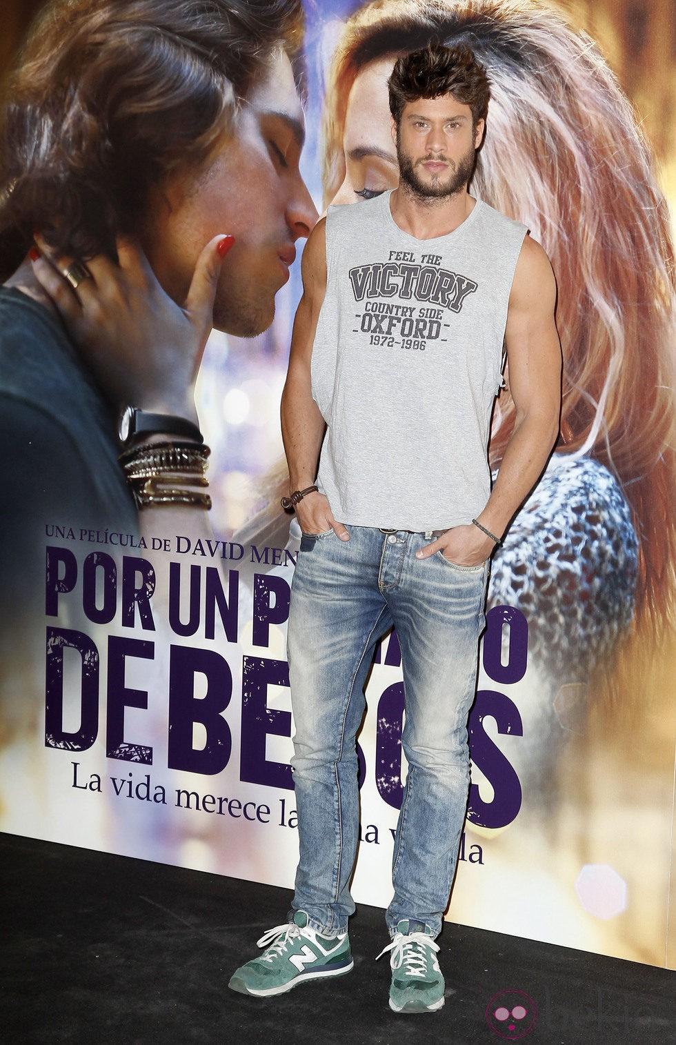 José Lamuño en el estreno de 'Por un puñado de besos' en Madrid