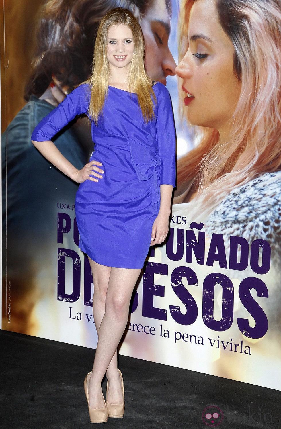 Arantxa Martí en el estreno de 'Por un puñado de besos' en Madrid