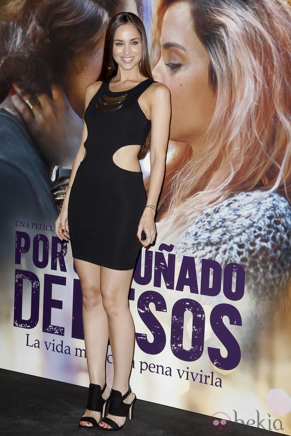 Lorena Van Heerde en el estreno de 'Por un puñado de besos' en Madrid