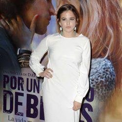 Marina Salas en el estreno de 'Por un puñado de besos' en Madrid