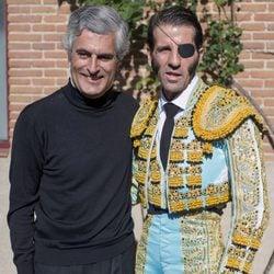 Adolfo Suárez Illana y Juan José Padilla en la plaza de toros de Las Ventas