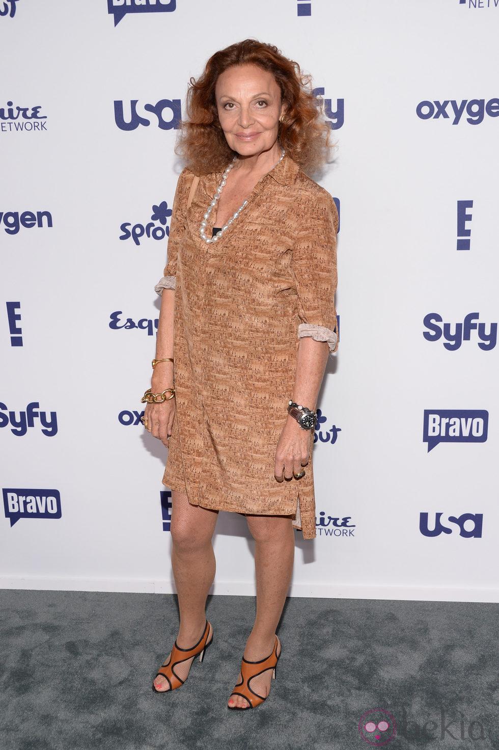 Diane von Fürstenberg en los Upfronts de la NBC Universal 2014