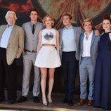 Los protagonistas de 'Los Juegos del Hambre: Sinsajo. Parte 1' en Cannes 2014