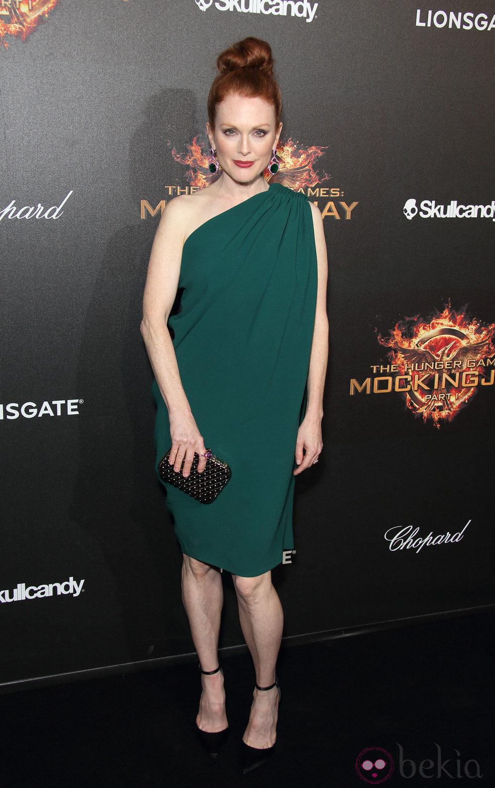 Julianne Moore en la fiesta de presentación de 'Sinsajo. Parte 1' en Cannes 2014