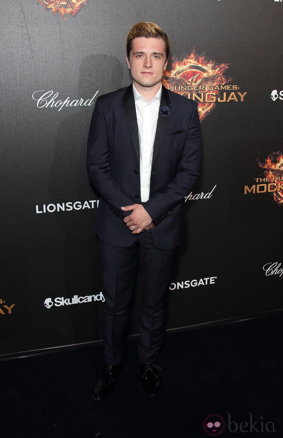 Josh Hutcherson en la fiesta de presentación de 'Sinsajo. Parte 1' en Cannes 2014
