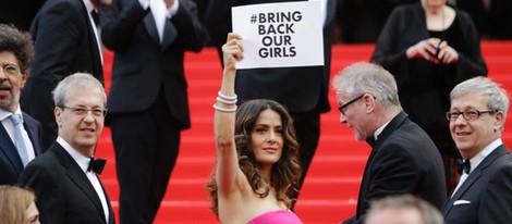 Salma Hayek reivindicativa en el Festival de Cannes 2014