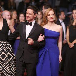 Jessica Chastain y James McAvoy en el Festival de Cannes 2014