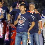 'El Cholo' Simeone durante la celebración de la Liga 2014 del Atlético de Madrid