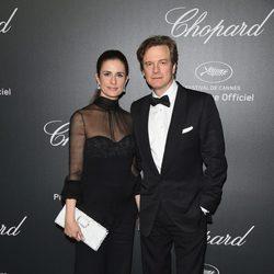 Colin Firth y su mujer Livia en la fiesta Chopard del Festival de Cannes 2014