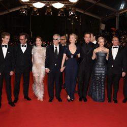 Robert Pattinson, Guy Pearce y el equipo de 'Maps to the Stars' en el Festival de Cannes 2014