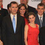 Los Príncipes de Asturias en una cena con empresarios sevillanos