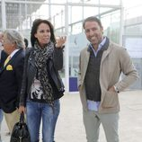 Lara Dibildos y Joaquín Capel en un Torneo de Pádel contra el cáncer de mama