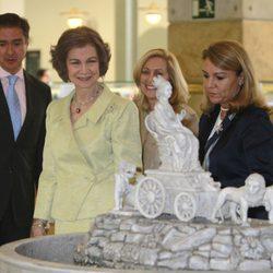 La Reina Sofía en la inauguración V Bienal de Arte Contemporáneo de la Fundación ONCE