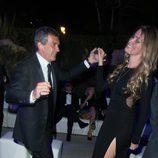 Antonio Banderas en la pista de baile de Di Grisogono en el Festival de Cannes de 2014