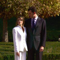 El Príncipe Felipe y Letizia Ortiz en su pedida de mano