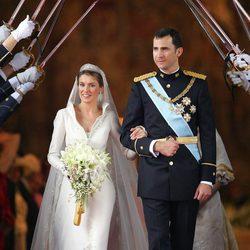 Los Príncipes Felipe y Letizia tras convertirse en marido y mujer
