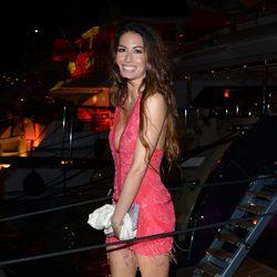 Elisabetta Gregoraci en una fiesta en el yate de Roberto Cavalli en Cannes 2014