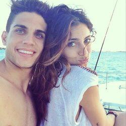 Marc Bartra y Melissa Jiménez de vacaciones