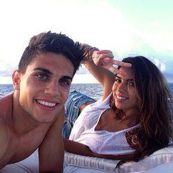 Marc Bartra y Melissa Jiménez confirman su relación