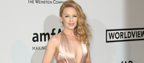 Kylie Minogue en la gala amfAR del Festival de Cannes 2014
