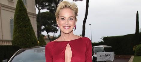 Sharon Stone en la gala amfAR del Festival de Cannes 2014