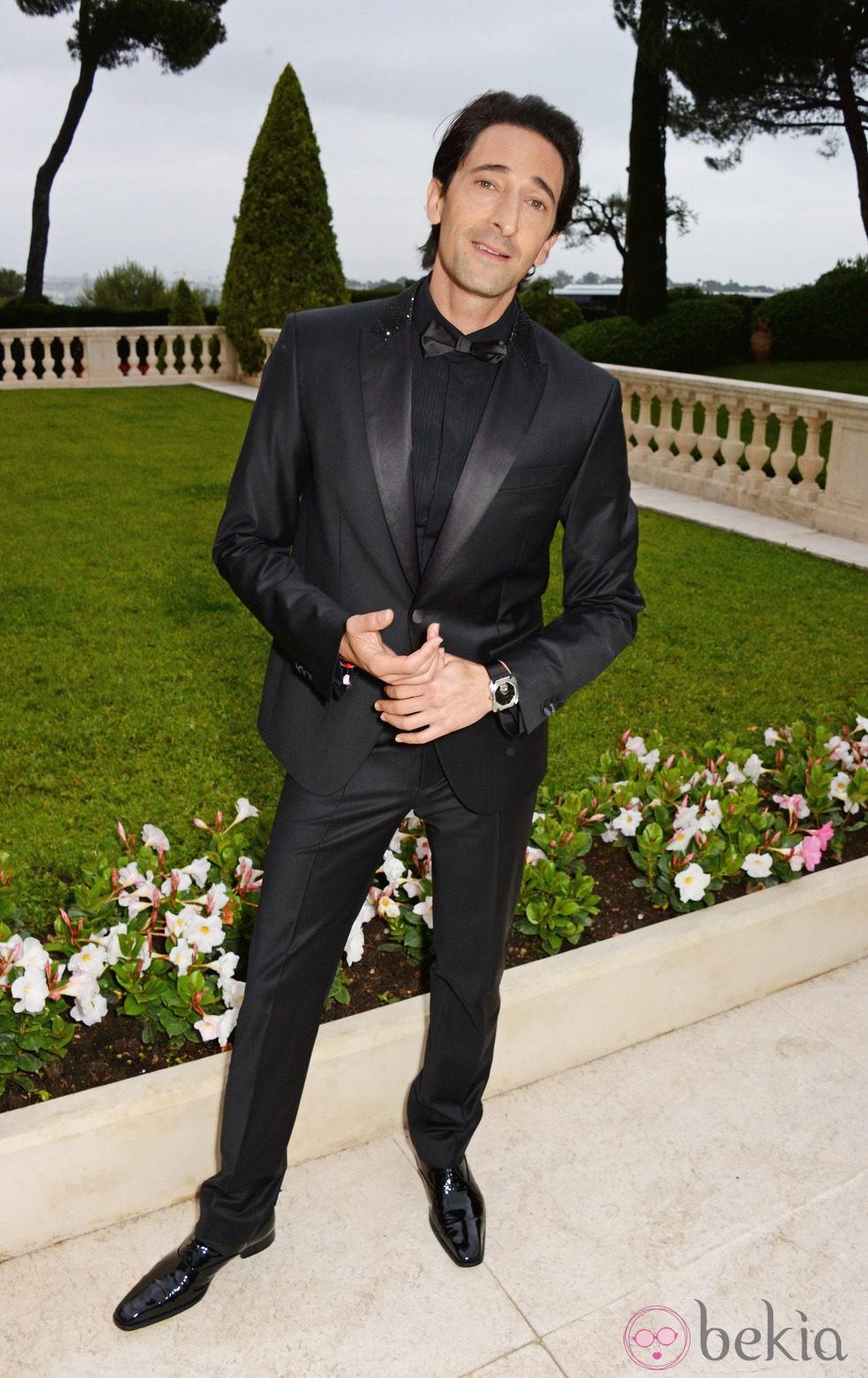 Adrien Brody en la gala amfAR del Festival de Cannes 2014