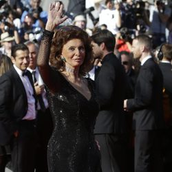 Sofia Loren en el Festival Cannes 2014