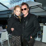 Uma Thurman y Quentin Tarantino en la proyección de Pulp Fiction en Cannes 2014