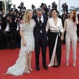 Chloe Grace Moretz, Olivier Assayas, Juliette Binoche y Kristen Stewart en el Festival de Cannes 2014