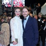 Felicitas Rombold y Daniel Brühl en el Festival de Cannes 2014