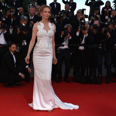Uma Thurman en la clausura del Festival de Cannes 2014