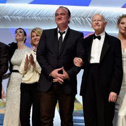 Nuri Bilge, Paz Vega, Nicole Garcia, Quentin Tarantino, Gilles Jacob, Uma Thurman y Timothy Spa en Cannes 2014