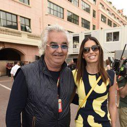 Flavio Briatore y Elisabetta Gregoraci en el Gran Premio de Mónaco 2014