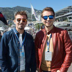 Max Biaggi y Jorge Lorenzo en el Gran Premio de Mónaco 2014