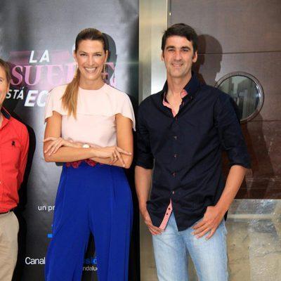 Laura Sánchez y Jesulín de Ubrique en la presentación de 'La suerte está echada'