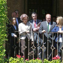 La Reina Sofía visita el Real Monasterio de San Jerónimo de Yuste