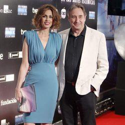 Juanjo Puigcorbé y Lola Marceli en la entrega de los Premios Max 2014