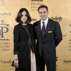 El Litri y Adriana Carolina Herrera en la entrega del Premio Paquiro 2014