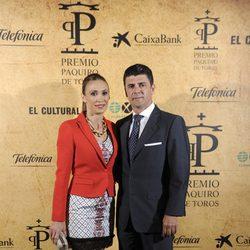Cristina Sánchez y Alejandro da Silva en la entrega del Premio Paquiro 2014