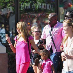 Heidi Klum y Seal en el parque de atracciones