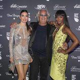 Elisabetta Gregoraci, Flavio Briatore y Naomi Campbell en el club 'Billionaire' de Roma