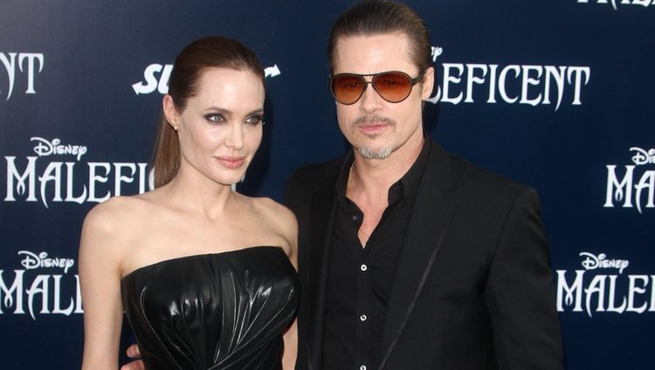 Angelina Jolie y Brad Pitt en la première de 'Maléfica'
