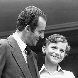 El Rey Juan Carlos y el Príncipe Felipe en 1978