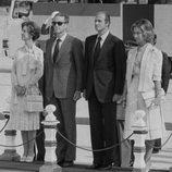 Don Juan Carlos y Doña Sofía junto a los Reyes de Bélgica en 1978