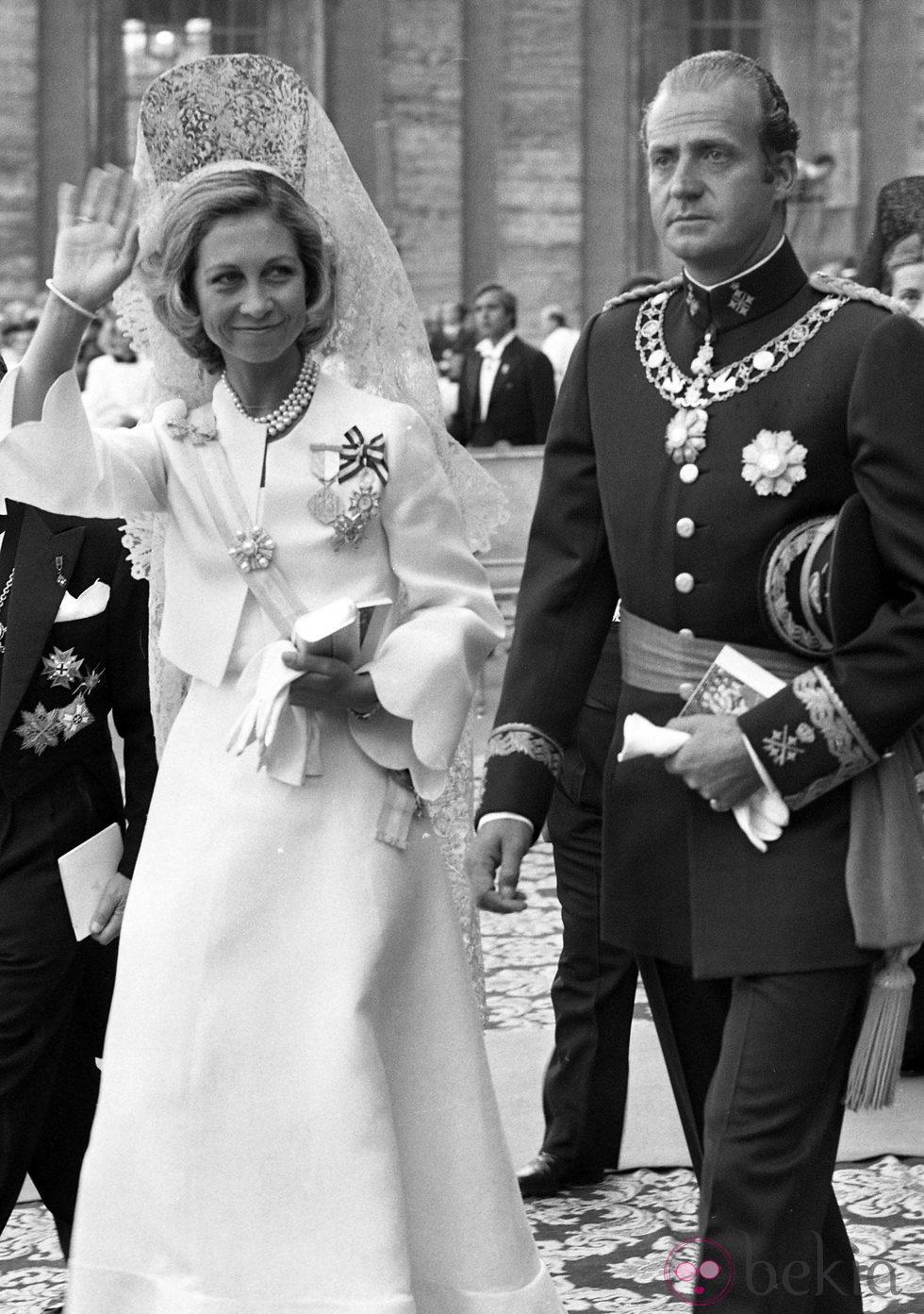 Don Juan Carlos y Doña Sofía en la coronación del Papa Juan Pablo II