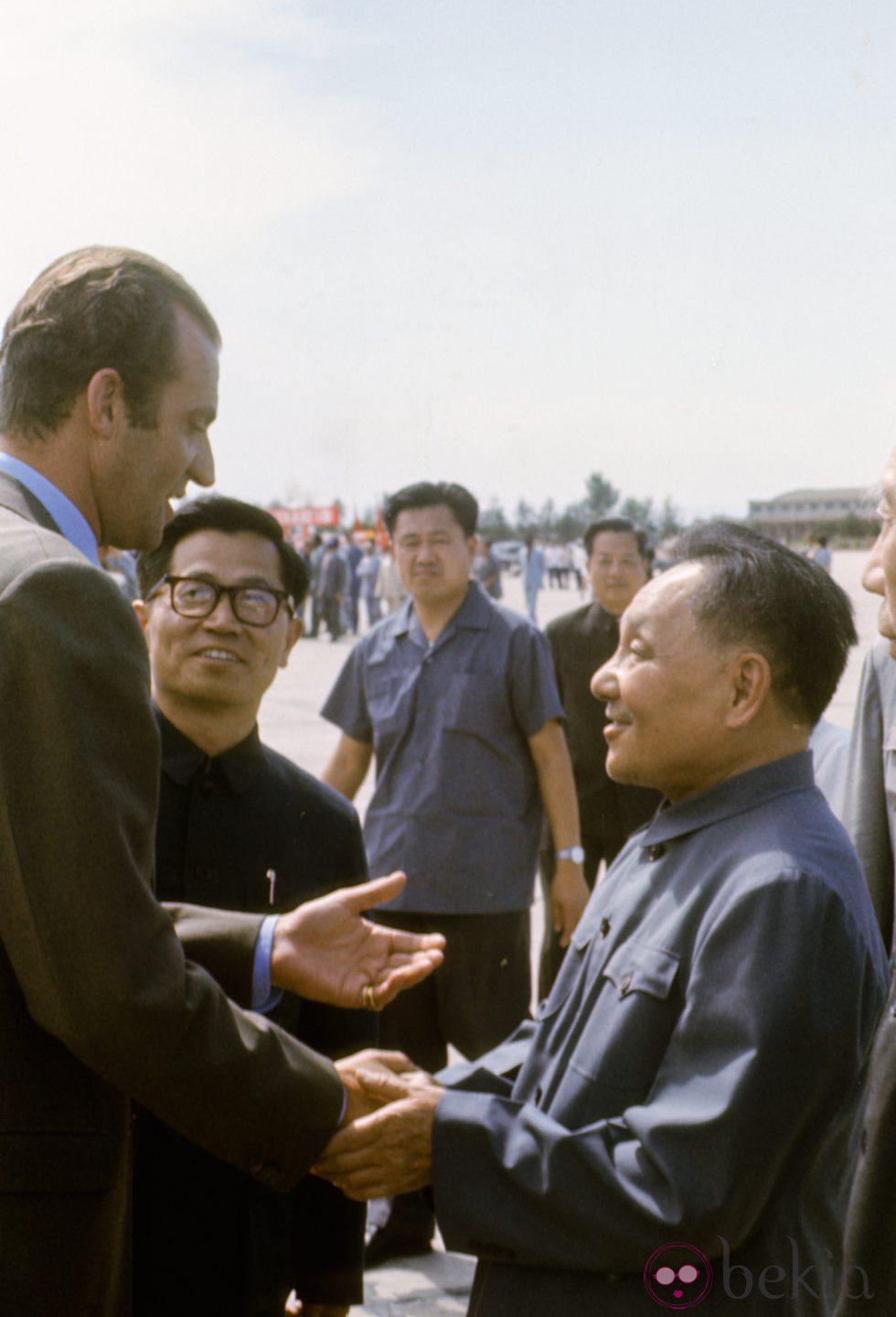 El Rey Juan Carlos recibido por Teng Tsiao en Pekín